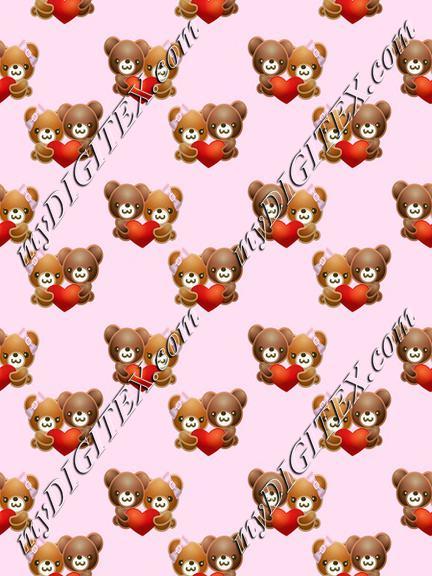 Bears in love pattern