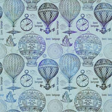 Vintage Travel Hot Air Balloon