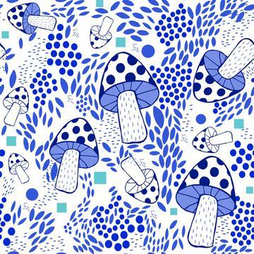 Blue Mushrooms-01