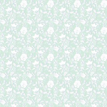 White floral print