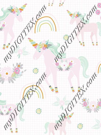 Unicorn pattern pink dot bg-01