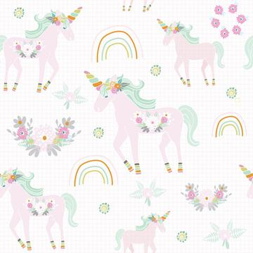 Unicorn pattern pink dot bg-01