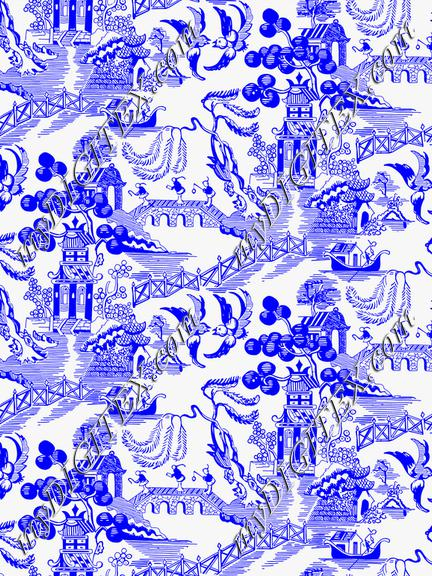 Blue Willow Chinoiserie 1