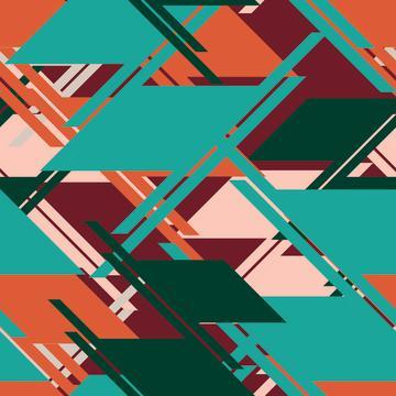 Geometric stripes print