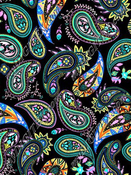 paisley coloring_black