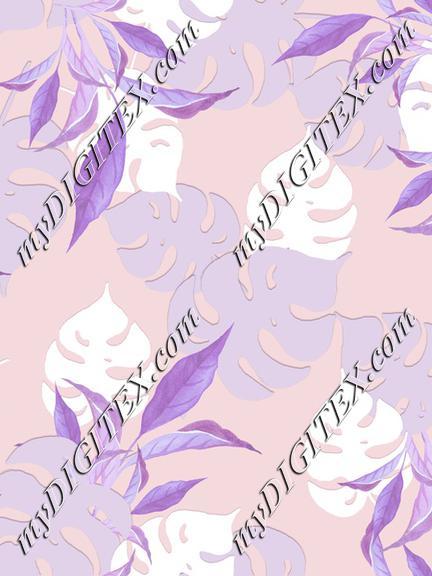 lavender leaves print