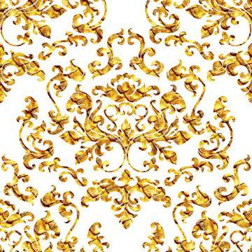 Damask Variations Gold Dragon (transparent)