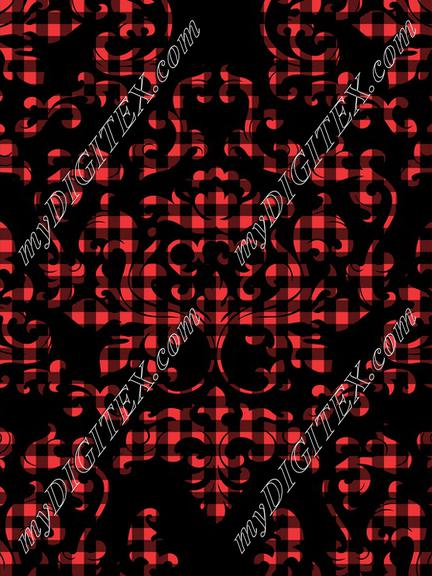 Damask Variations Buffalo Plaid