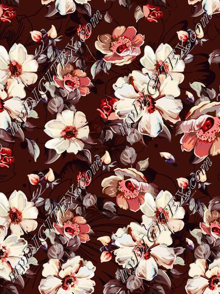 Illustration floral print elegant