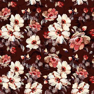 Illustration floral print elegant