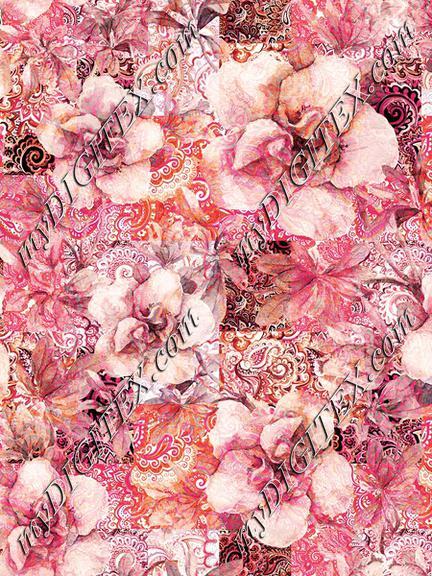 Paisley floral print