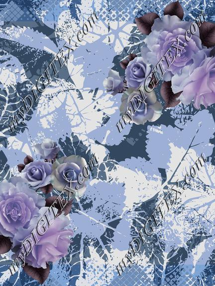 gray pastel flower 2