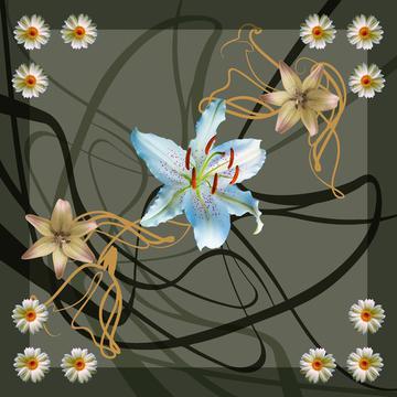 olive design flower