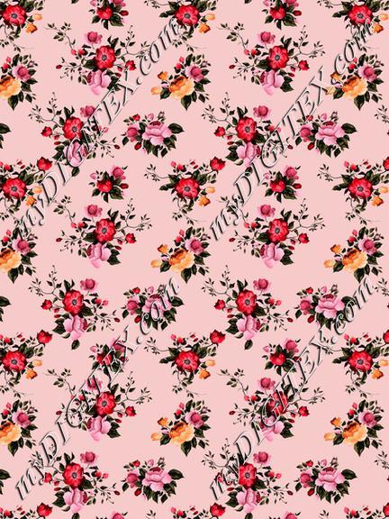 Floral print roses