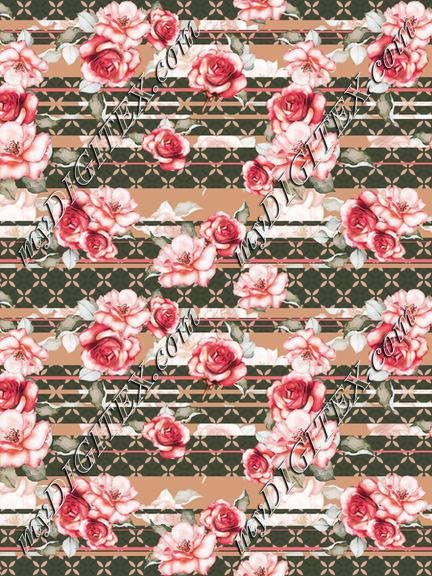 Roses stripe print