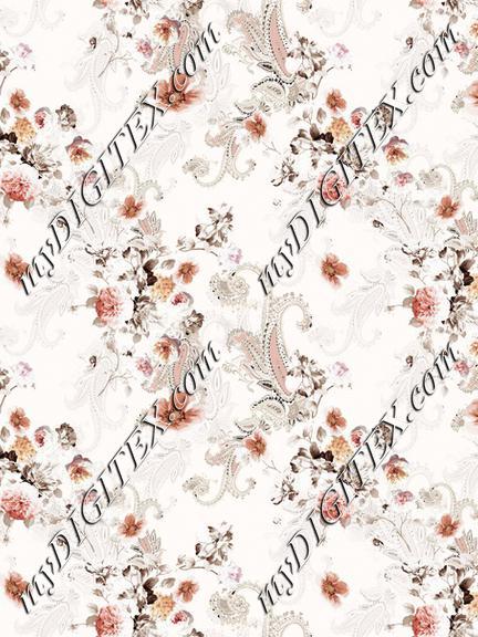 Boho print floral