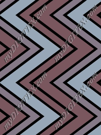 Blue and black zigzag
