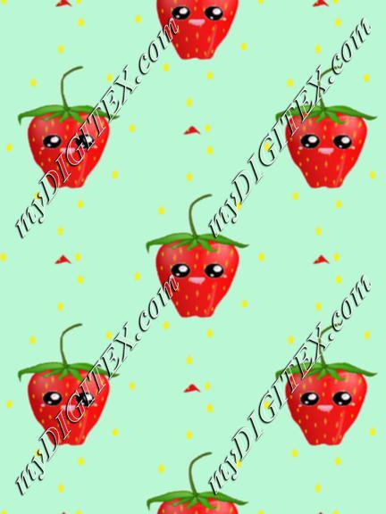 strawberry fruit kawaii