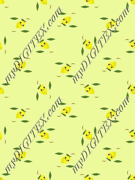 lemon fruit kawaii