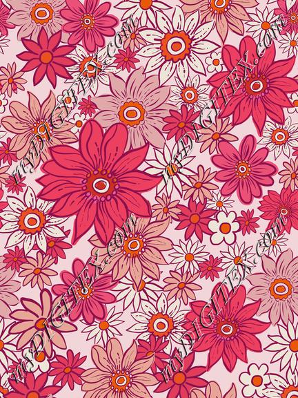 Pink Flowers-70s-REPEAT