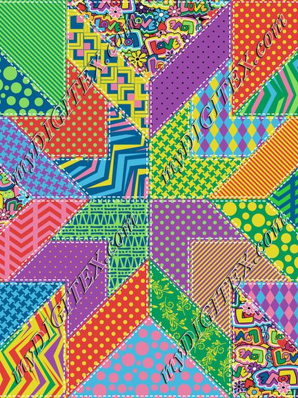 Hippie Love Quilt Block 104