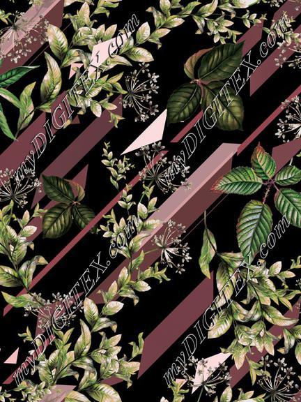 Stripes geometric floral seamless