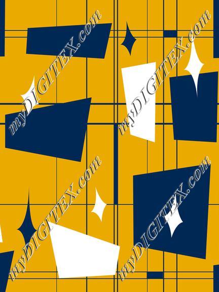 Blue & Gold Midcentury 2