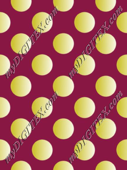 gold dots burgundy print
