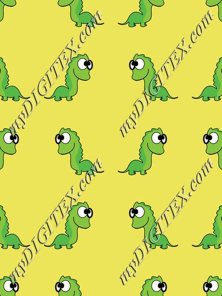 Dinosaurs on a yellow background pattern