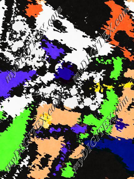 Colorful paint spots