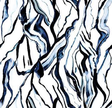 marble texture print dark blue