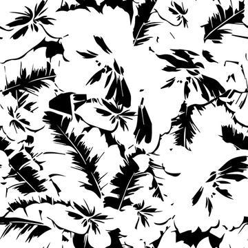Foliage texture abstract print