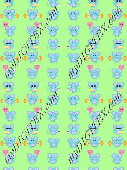 Cute mice pattern