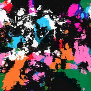 Colorful paint spotsblackwhiteblueorange