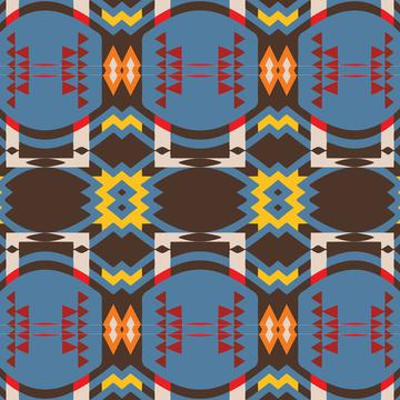 Shapes rows on a blue background