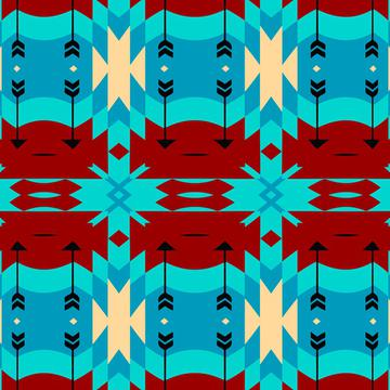 Brown blue tribal shapes