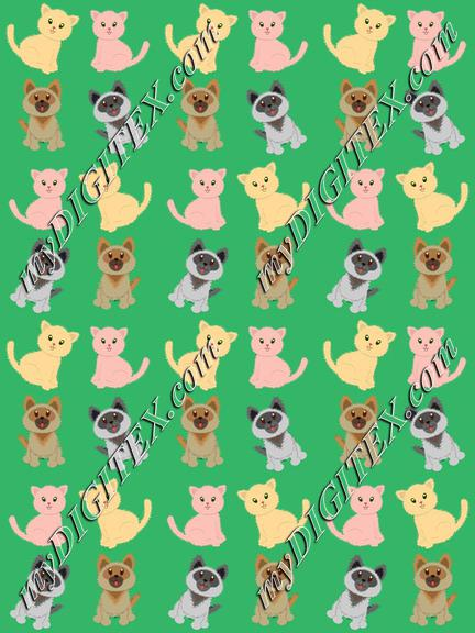 Dogs and cats pattern