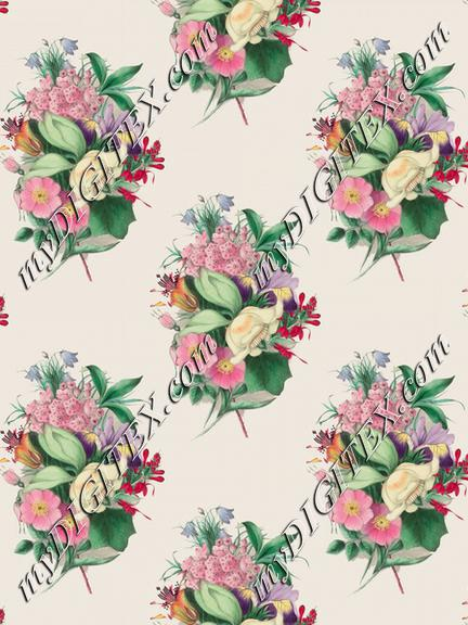 Flowers bouquets pattern painting