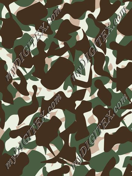 Vintage Military Camouflage Print