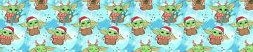 Yoda Christmas Blue