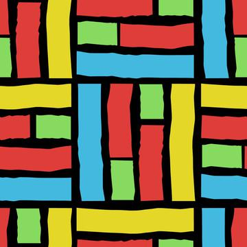 Hippie Love Wonky Geometric