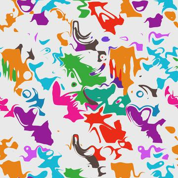Colorful distorted shapes