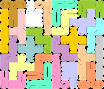 Abstract Animal Tessellation