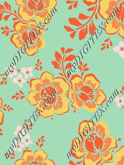 flowers-5657172 seamless patterns mint