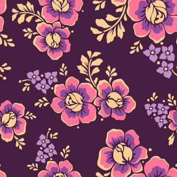 flowers-5657172 seamless pattern purple