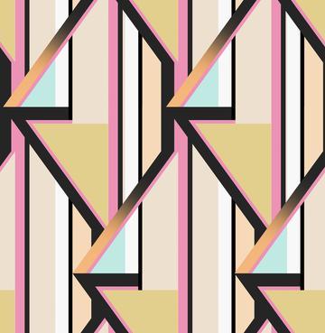 Retro Geometric Print