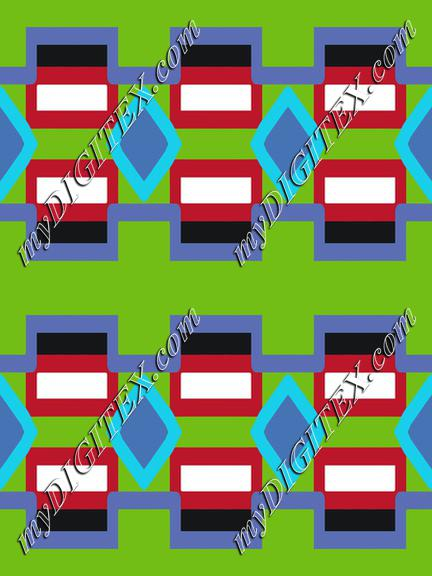 Rhombus and rectangles pattern