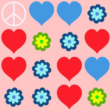Peace and love pattern