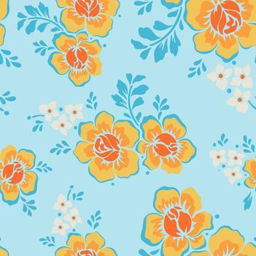 flowers-5657172 seamless pattern blue