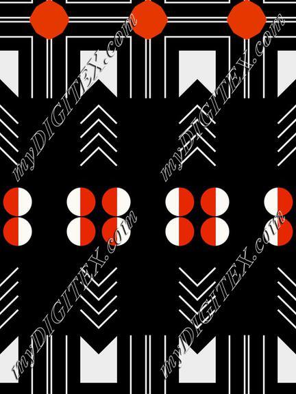 Shapes on a black background